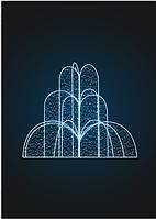 Световой фонтан Каскад - FON 12