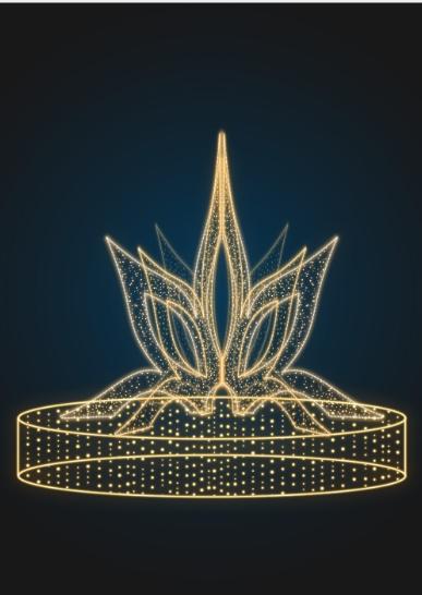 Светящийся фонтан Цветок - FON 16