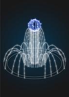 Фонтан светодиодный Пламя - FON 20