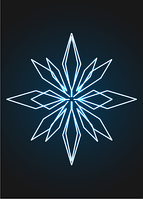 Новогодний подвес Кристалл - 3D ST 44