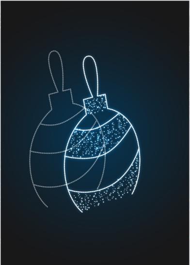 Новогодняя световая декорация Елочный шар с узором - PL 16