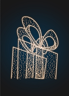 Новогодняя световая декорация Подарок 3 метра - PL 07