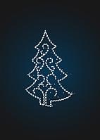 Световая новогодняя декорация Елка с узором 2,5 метра - PL 10