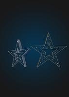 Световая объемная композиция Звезда - 3D GR 08
