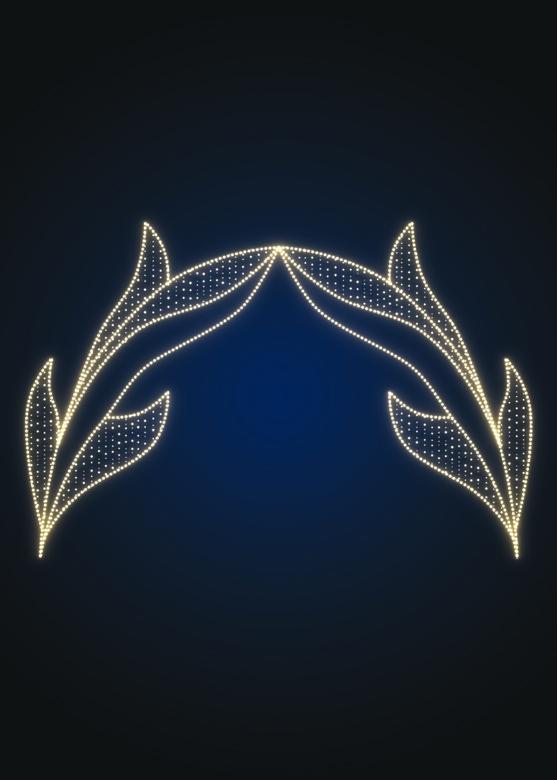 Арка новогодняя Лепестки - KT 03