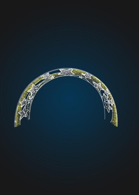 Световая арка Звезды в мишуре - 3D GR