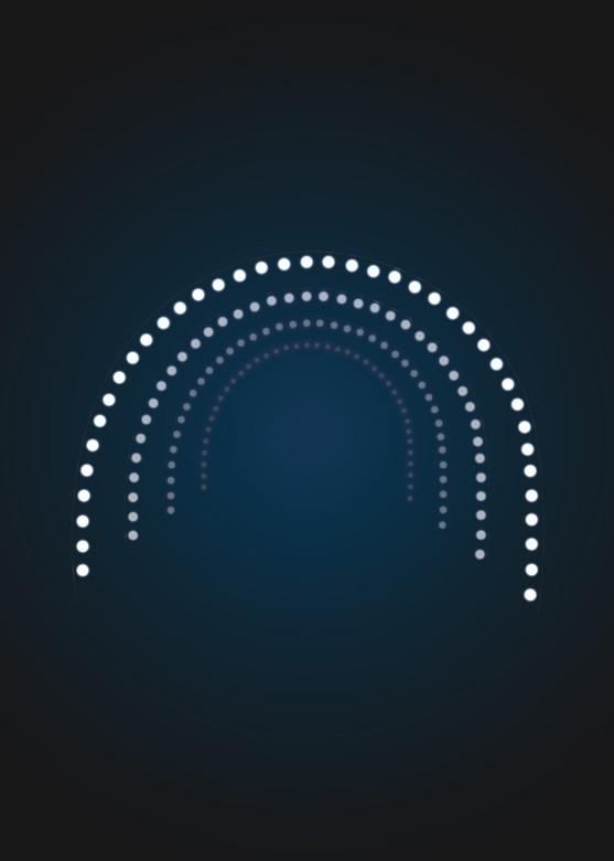 Световая арка с лампочками - 3D GR 15
