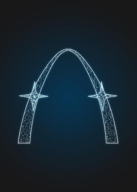 Световая арка с Сириусами - 3D GR 28