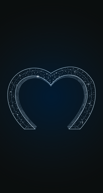 Световая арка Сердце - 3D GR 03
