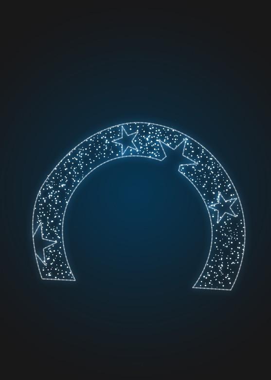 Световая арка со звездами - 3D GR 25