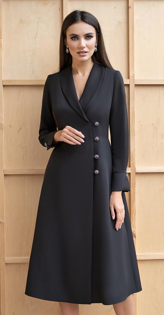 Платье Юрс-19-204-2, черный, 44