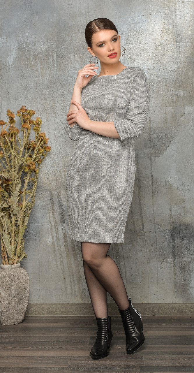 Платье Anna Majewska-А012, серый, 46