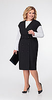 Платье Дали-3431, черный, 48