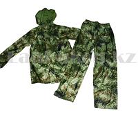 Камуфляжный костюм брюки и ветровка  Crow King в чехле (зелёный) 3XL