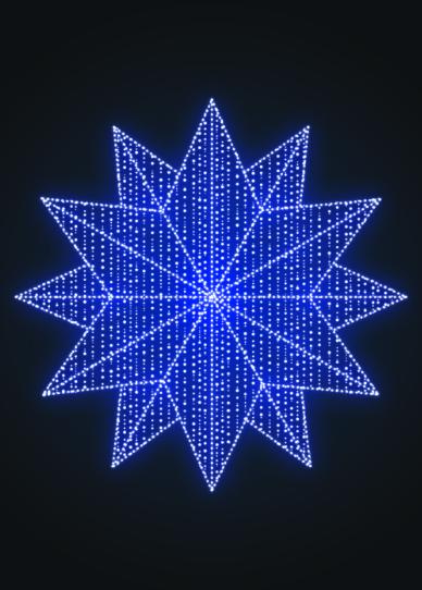 Панно Снежинка Полигональная - SP 09