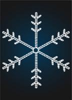 """Световое панно """"Снежинка 110см"""" - PA 11"""