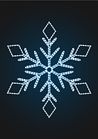 """Световое панно """"Снежинка 150см"""" - PA 10"""
