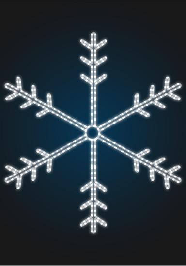 """Световое панно """"Снежинка 150см"""" - PA 11-1"""