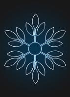 """Световое панно """"Снежинка 150см"""" - PA 21"""