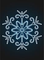 """Световое панно """"Снежинка 150см"""" - PA 26"""