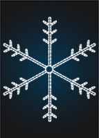 """Световое панно """"Снежинка 250см"""" - PA 11-3"""