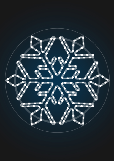 Светодиодная снежинка 78 см - SZ-02