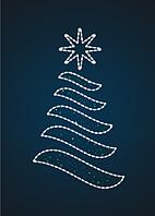 ДекПанно новогоднее Елка 2,5 метра - PA 05