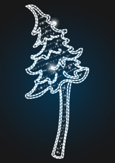 Панно новогоднее Елка 4,5 метра - COM 03