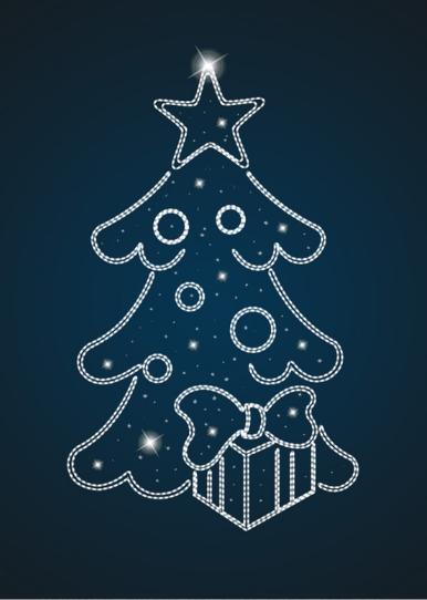 Панно Новогодняя елка - PA 04
