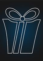 Панно световое новогоднее Подарок - PA 19