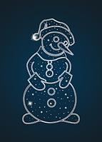 Панно светящееся Снеговик - PA 03