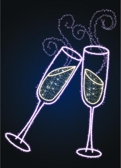 Панно уличное Бокалы Шампанского - MS 19