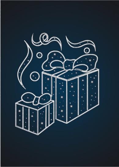 Панно уличное Новогодние подарки - PA 01