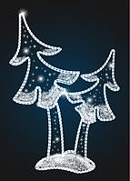 Панно уличное Рождественская елка - COM 02