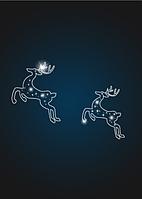 Панно фасадное Новогодние олени - PA 22