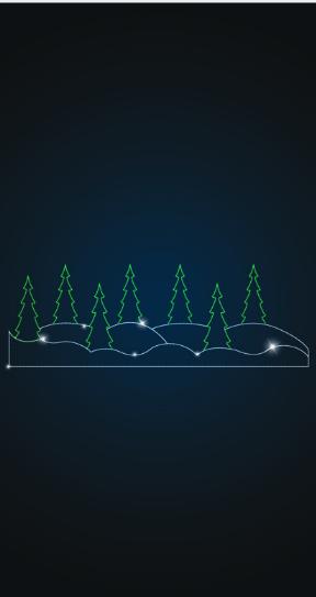 Панно Хвойный лес - PL 03