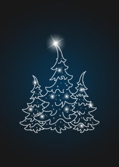 Фасадное новогоднее панно Елка 4х4 - PA 23
