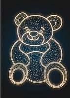 Фасадное панно световое Медведь - COM 05