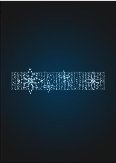 Новогодняя перетяжка Снежинки - SE 46