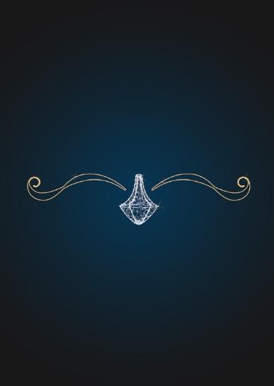 Новогодняя растяжка Волшебная люстра - PE 23