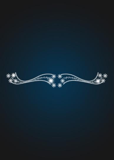 Перетяжка новогодняя Северное сияние - SE 16