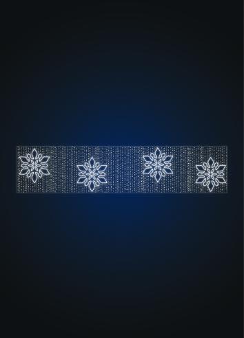 Перетяжка новогодняя со снежинками - KT 09