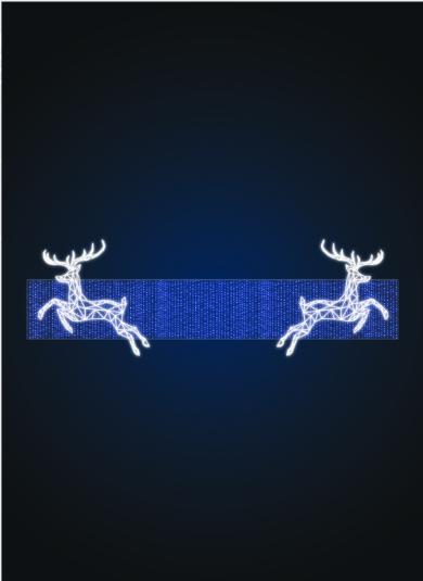 Перетяжка Полигональные олени - SE 63