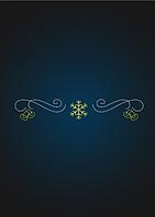 Перетяжка снежинка и колокольчики - PE 11