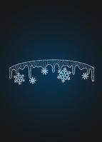 Перетяжка Сосульки со снежинками - SE 59