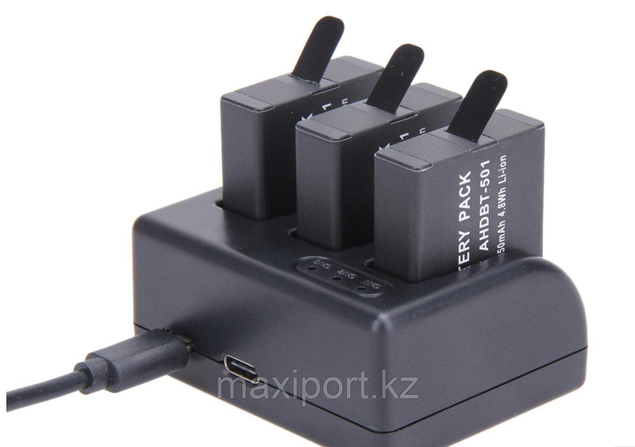 Gopro 5 gopro 6 gopro 7 зарядка для 3 аккумуляторов