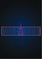 Световая перетяжка Зимний Кремль - MS 07