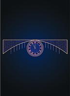 Световая уличная перетяжка Часы - MS 06