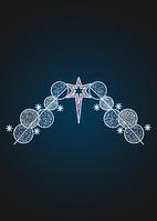 Уличное панно Волшебные шары со звездой - SE 48