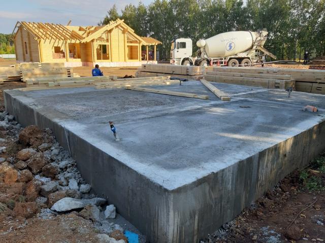 фундамент под строительство дома из бруса